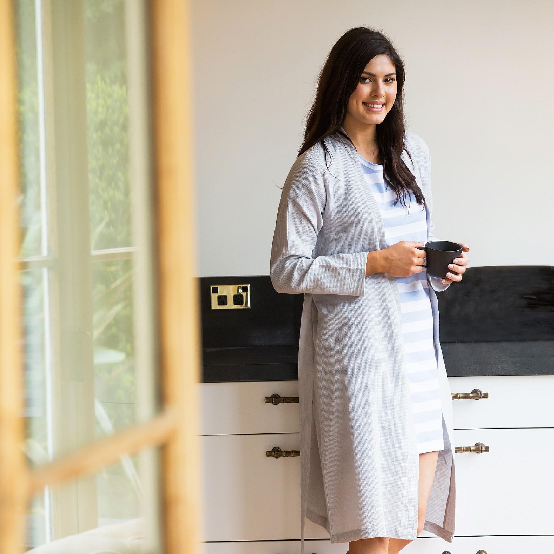 56b622a908 Sleepwear   Robes - Design Republique Summer Waffle Robe - Grey