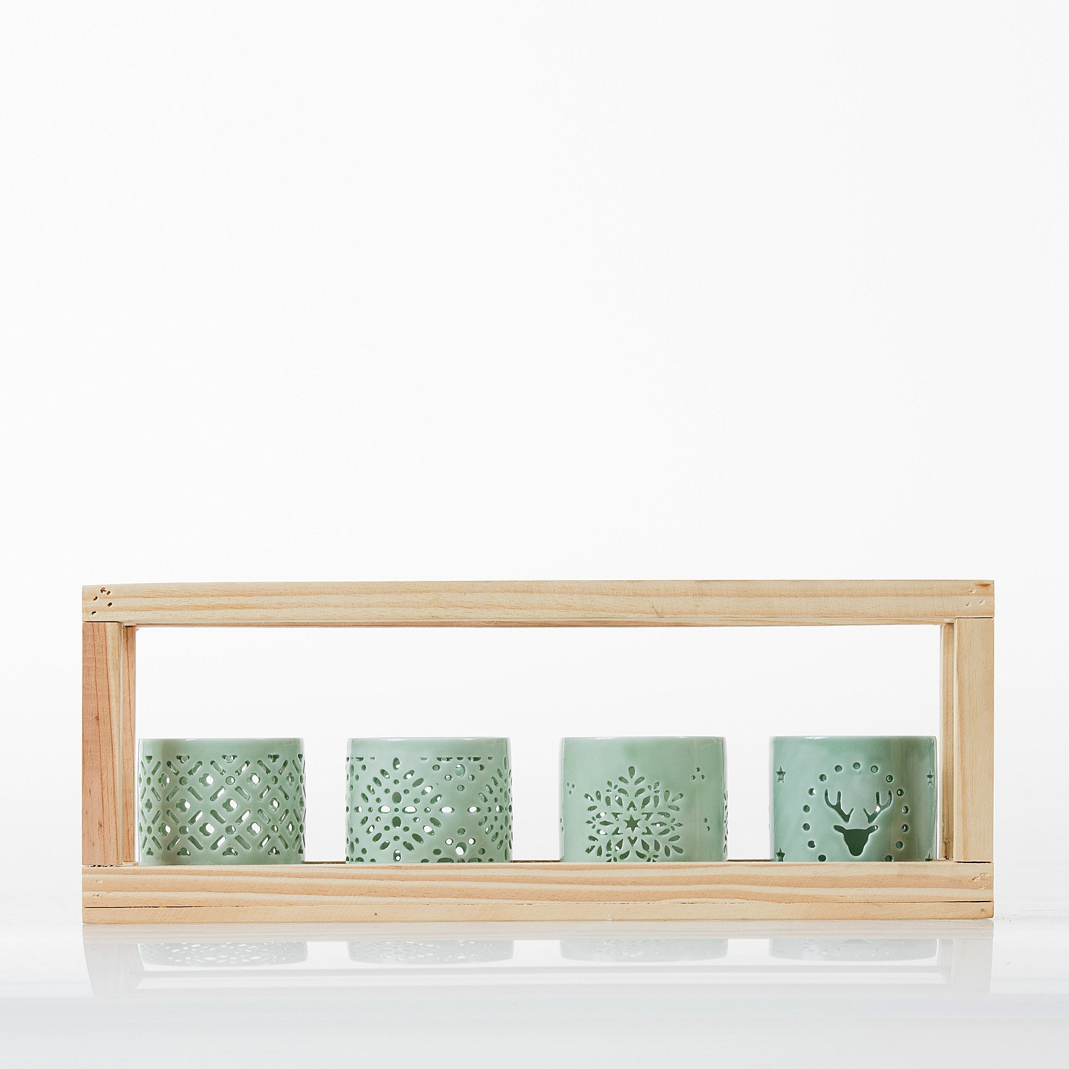 Home Chic Ava Wooden Framed Candle Holder