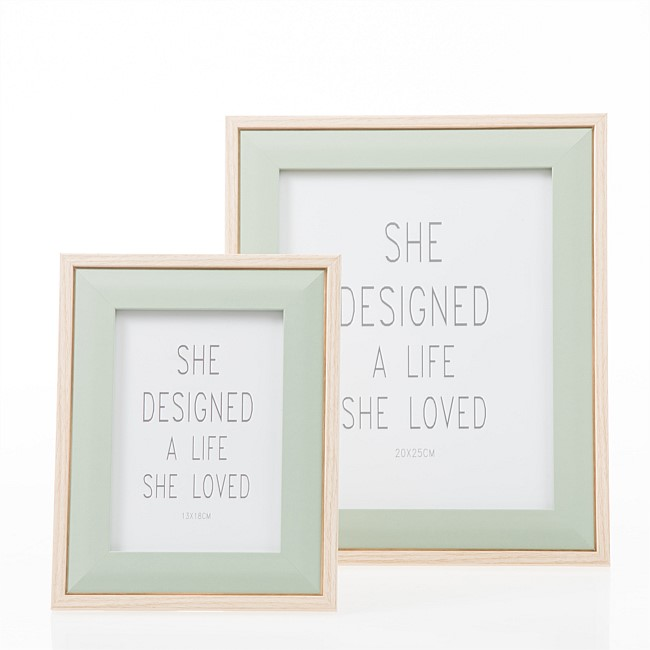Home Co. Large Pastel Frame Green