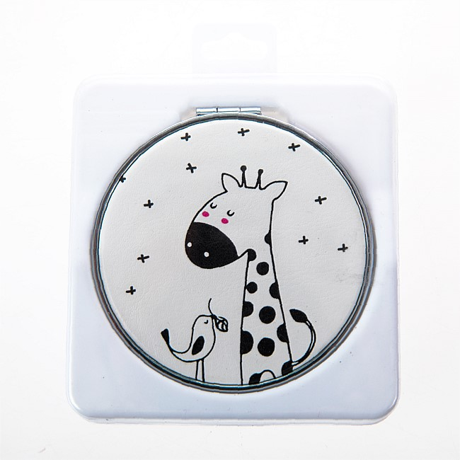 Beauty Care Giraffe & Bird Compact Mirror