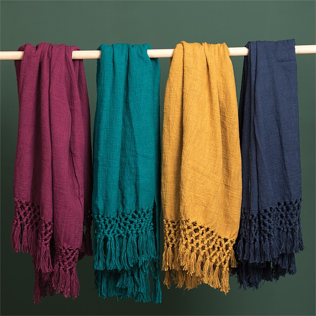 Solace Slub Cotton Throws