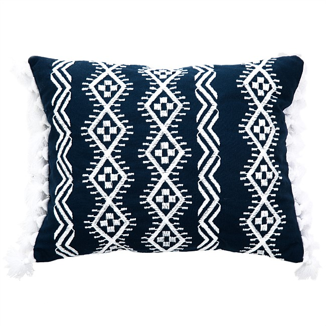 Design Republique Fleet Navy Embroided Cushion