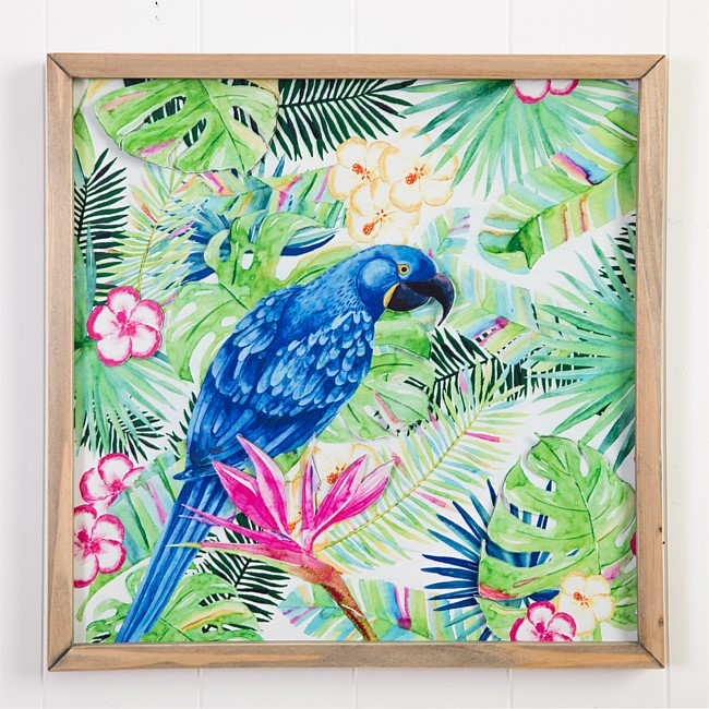 Solace Tropical Blue Bird Wall Art