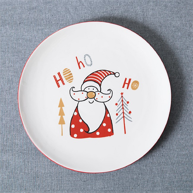 Christmas Wishes Ho Ho Ho Santa Dinner Plate