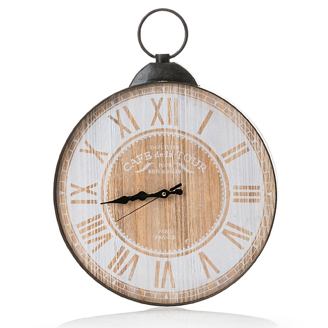Home Chic Cafe Clock Natural