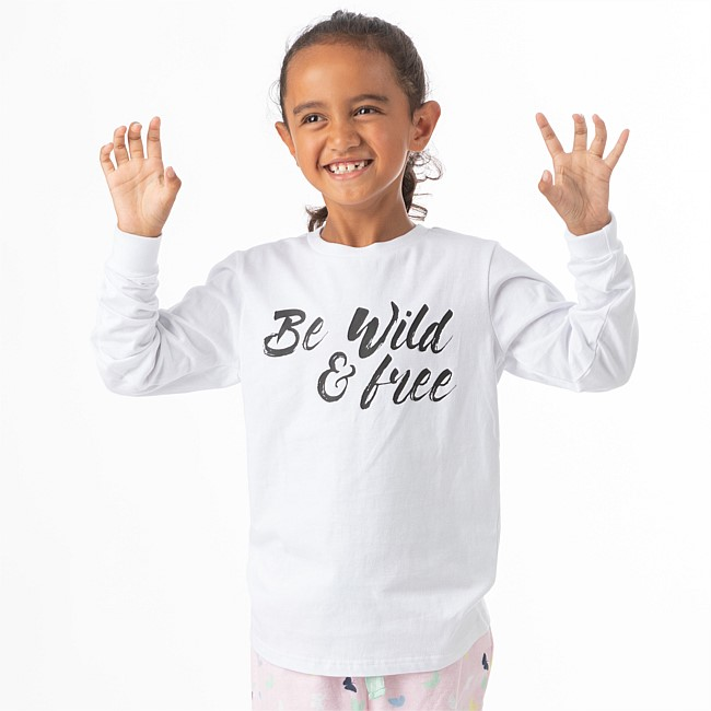 bb&b Kids Girls Be Wild Long Sleeve T-shirt