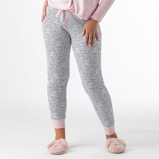 bb&b Sleep Womens Ditsy Dots Knit Pant