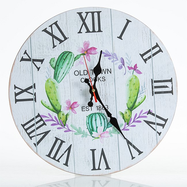 Home Co. Promo Clock Cactus