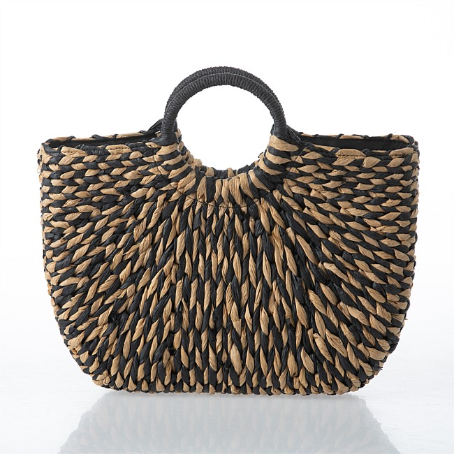 Seaside Supplies Stella Black White Woven Bag