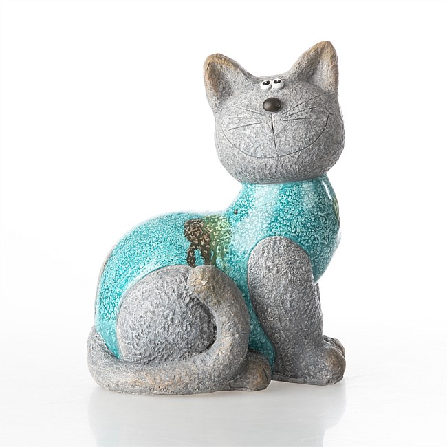 bb&b Outdoor Glazed Cat Garden Ornament