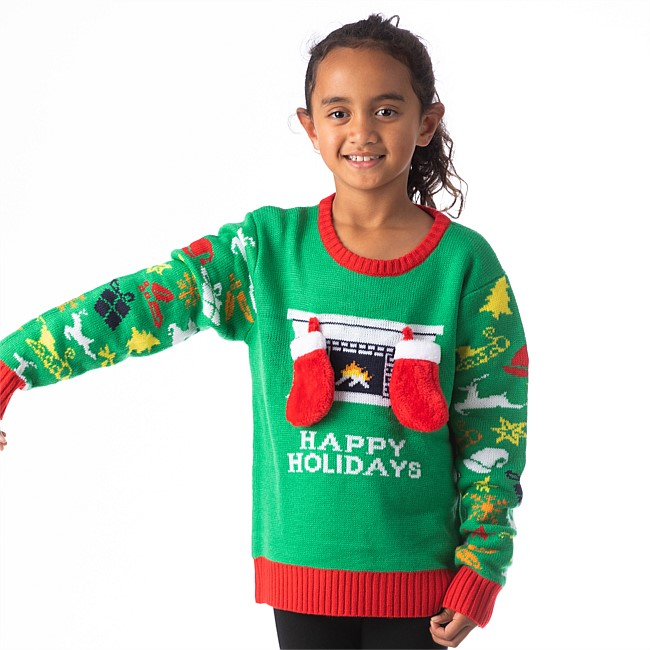 Christmas Wishes Happy Holiday Kids Xmas Jumper