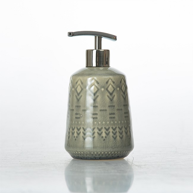Design Republique Skandi Tribal Grey Soap Dispenser
