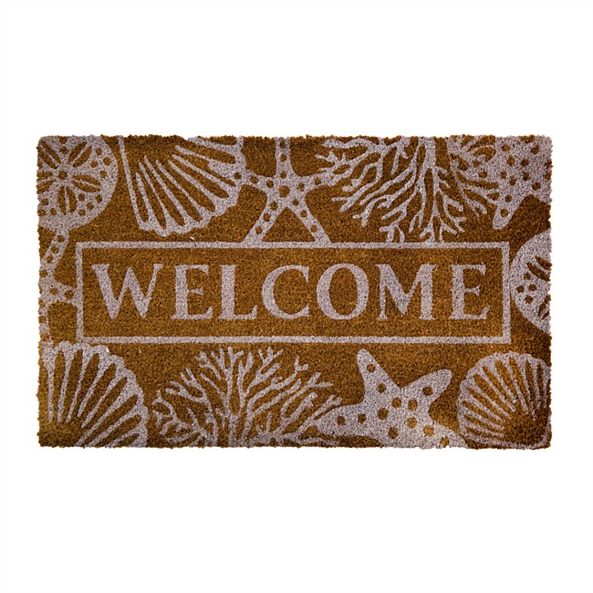 Home Co. Welcome Shell Coir Mat