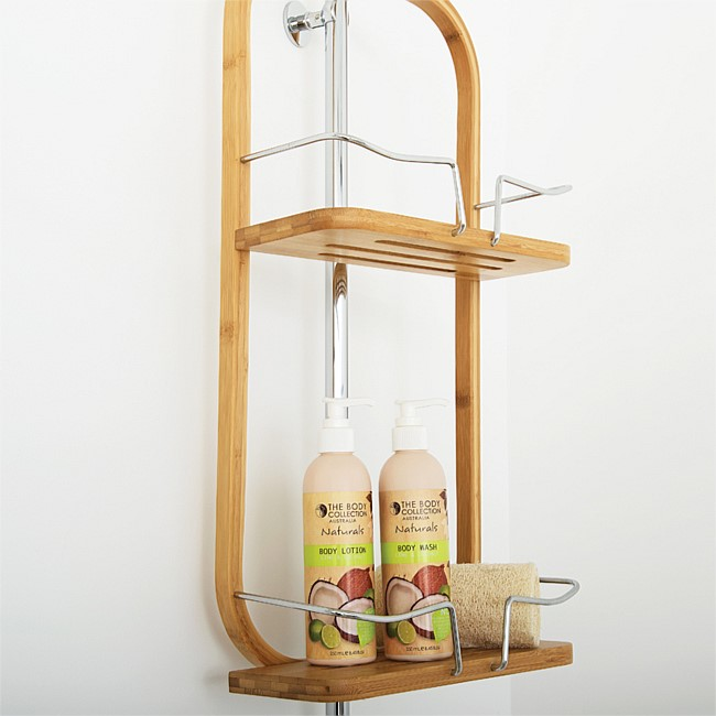 Solace 2 Tier Bamboo Shower Caddy