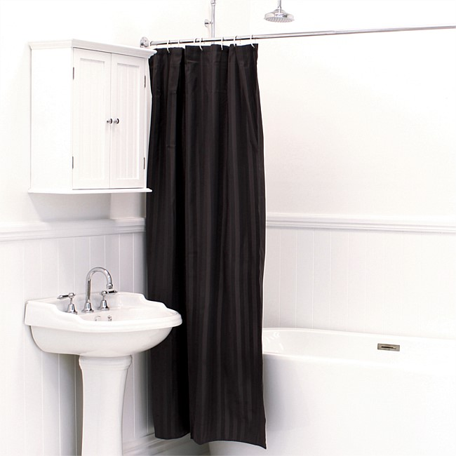 Solace Satin Stripe Shower Curtains 180x200