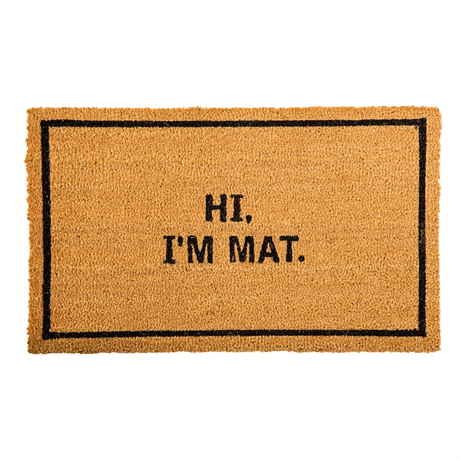 Home Co. Hi Im Mat Coir Mat