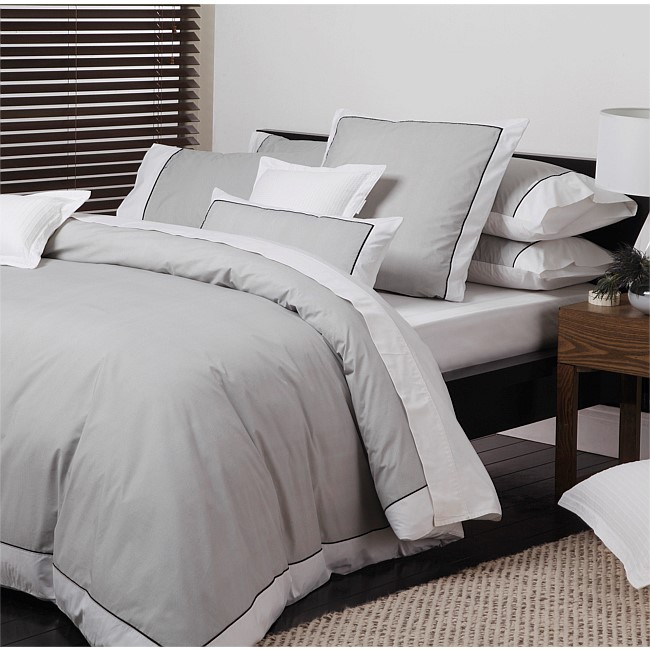 Logan & Mason Essex Pewter Duvet Cover Set