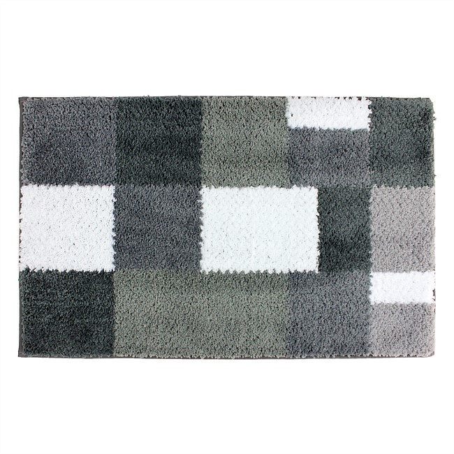 Solace Microplush Check Bathmats