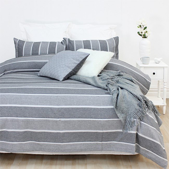 Design Republique Lurex Jacquard Duvet Cover Set