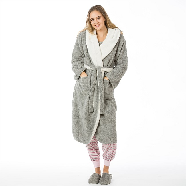 Solace Sherpa 3/4 Reversible Robe