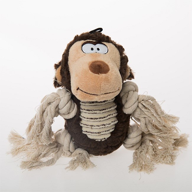bb&b Pets Plush Pet Toy with rope Monkey
