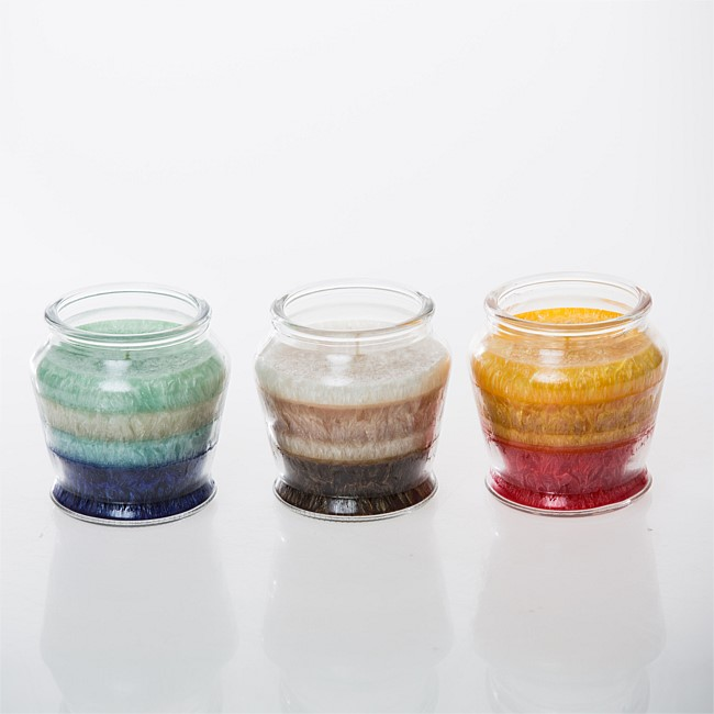 Trio Layers Curved Jar Candle