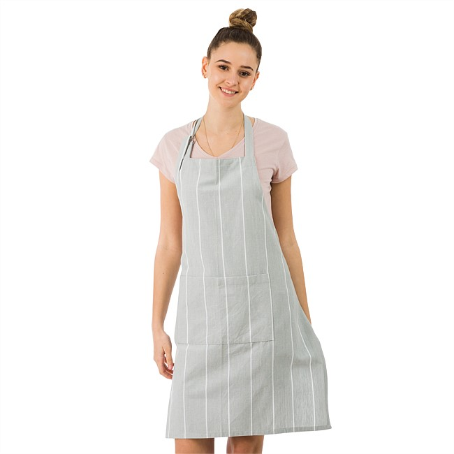 Gather Home Co Amalia Grey Stripe Apron