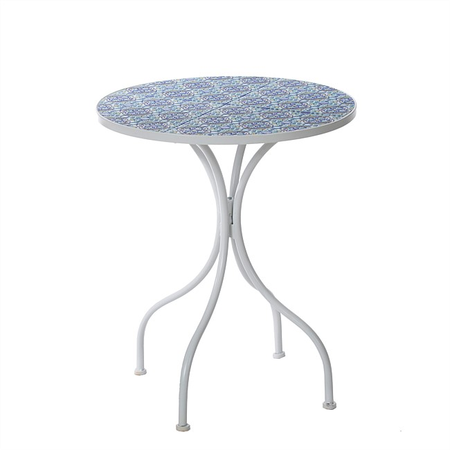 bb&b Outdoors Blue Mosaic Table