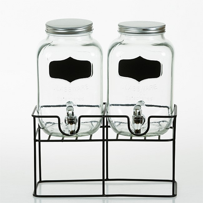 bb&b Outdoors 2pc Glass Dispenser on Stand