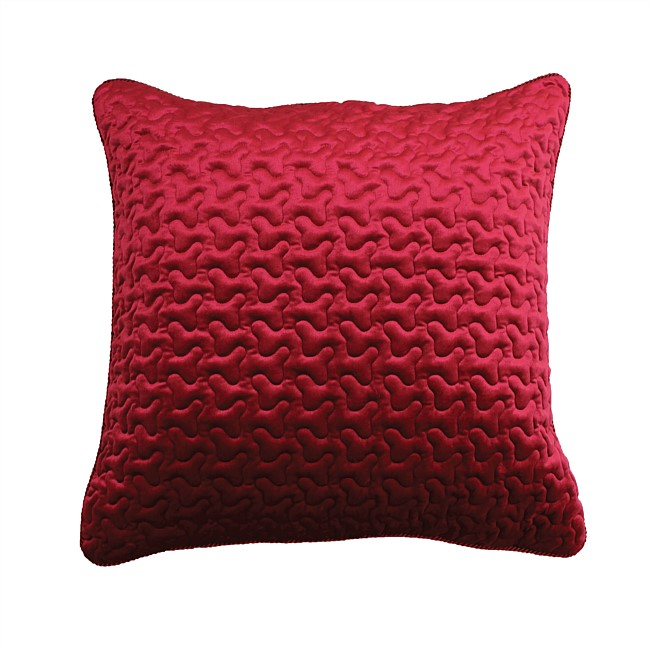 Solace Medallion Red Euro Pillowcase