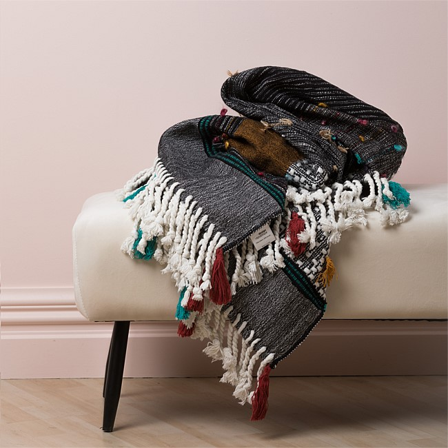 Design Republique Valencia Multi Colour Throw