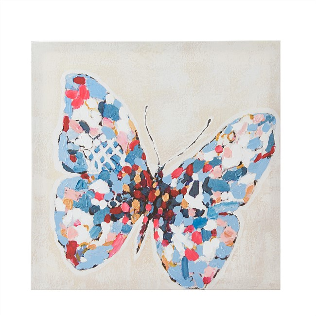 Solace Multicoloured Butterfly Wall Art