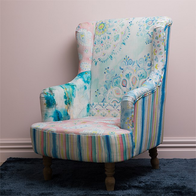 Design Republique Paisley Floral Patchwork Chair