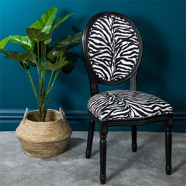 Design Republique Animal Print Covered Chair