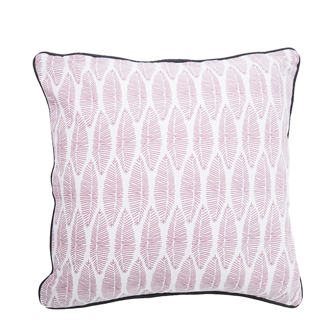 Design Republique White & Pink Petal Printed Cushion