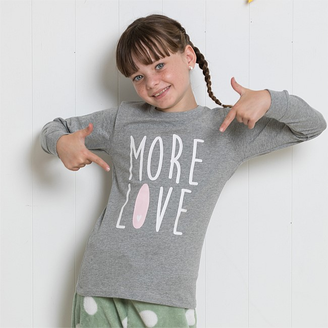 bb&b Kids More Love PJ Tee