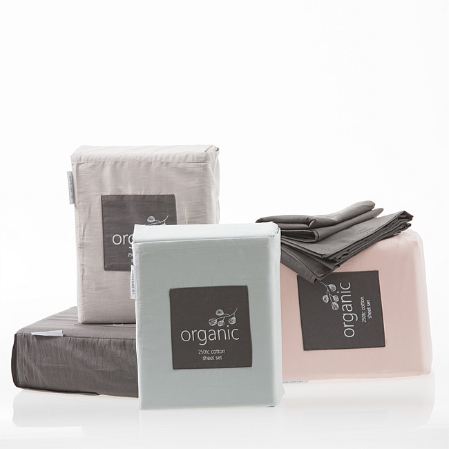 Pure & Simple Organic 250TC 100% Organic Cotton Sheet Sets