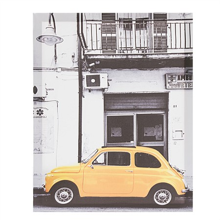Solace Yellow Fiat Canvas Print