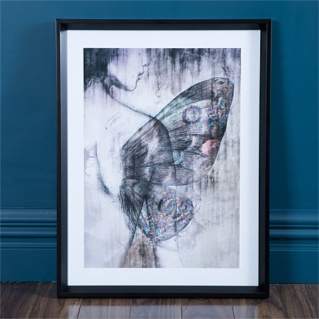 Solace Butterfly Woman Framed Print