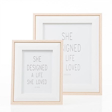 Home Co. Small Pastel Frame White