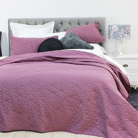Solace Jersey Embossed Coverlet Set