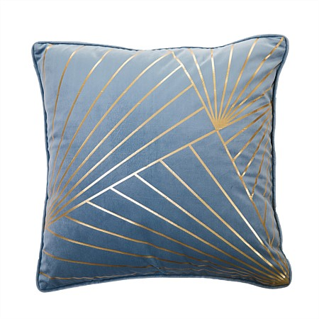 Design Republique Luxe Velvet Linear Print Cushion