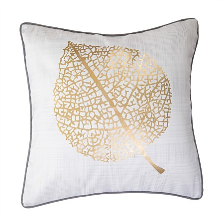 Design Republique Luxe Leaf Printed Cushion