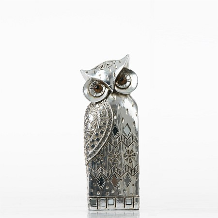 Home Chic Small Silver Owl