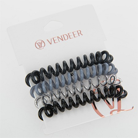 Vendeer Rubber Spiral Hair Ties 4 Pack