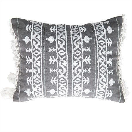 Design Republique Fleet Silver Embroidered Cushion