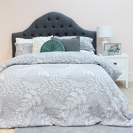 Design Republique Leaf Double Jacquard Duvet Cover Set