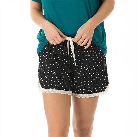bb&b Sleep Dotty Lace Hem Boxer Short