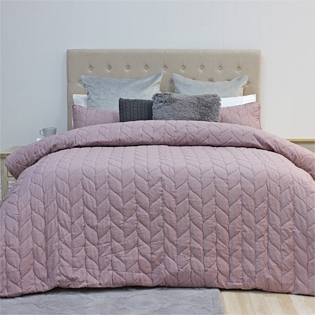 Solace Theo Heat Pressed Duvet Cover Set