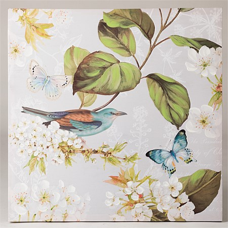 Flourish Carver Blue Bird Spring Wall Art